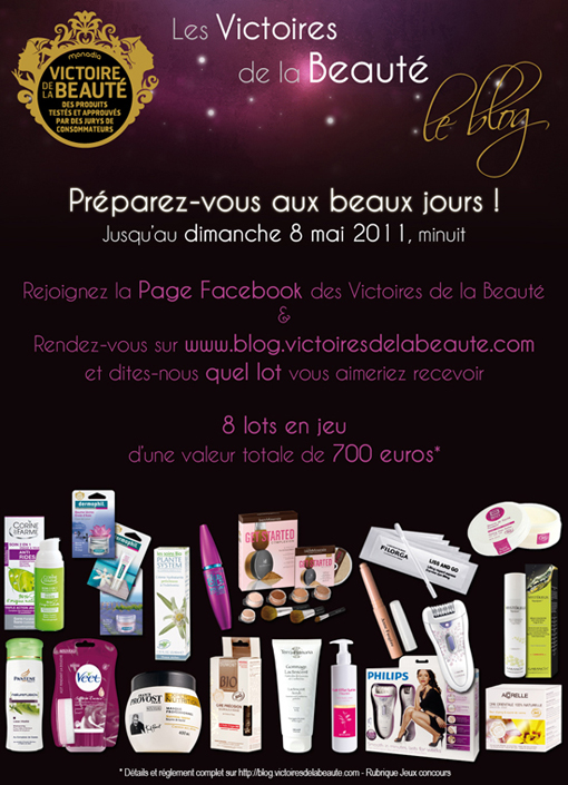 Concours Victoires de la Beauté - Poulette Blog