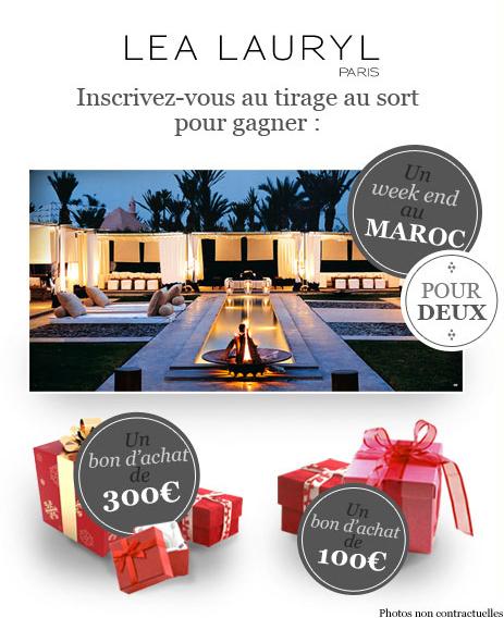 l a lauryl vous offre un voyage au maroc et des super bons d 39 achat poulette blog. Black Bedroom Furniture Sets. Home Design Ideas