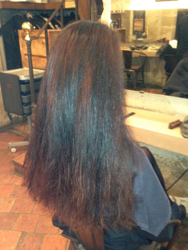 Decoloration cheveux noirs