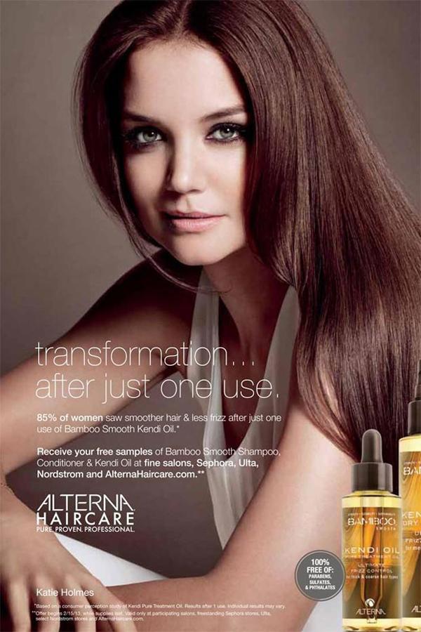Katie Holmes a adopté MA marque chouchoute pour les cheveux... Alterna ! - Poulette Blog