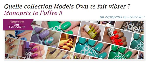 50 vernis Models Own à gagner sur Vernithèque.fr !!