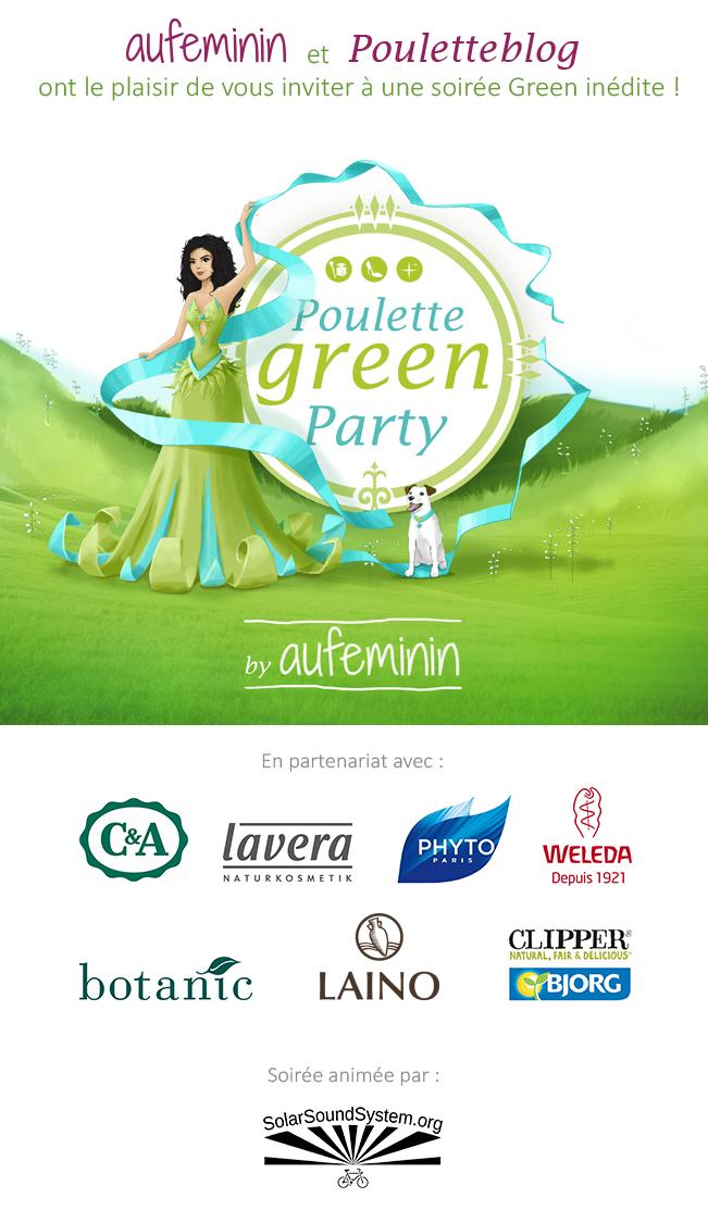 Gagnez vos places pour la surprenante Poulette Green Party by Auféminin - Poulette Blog