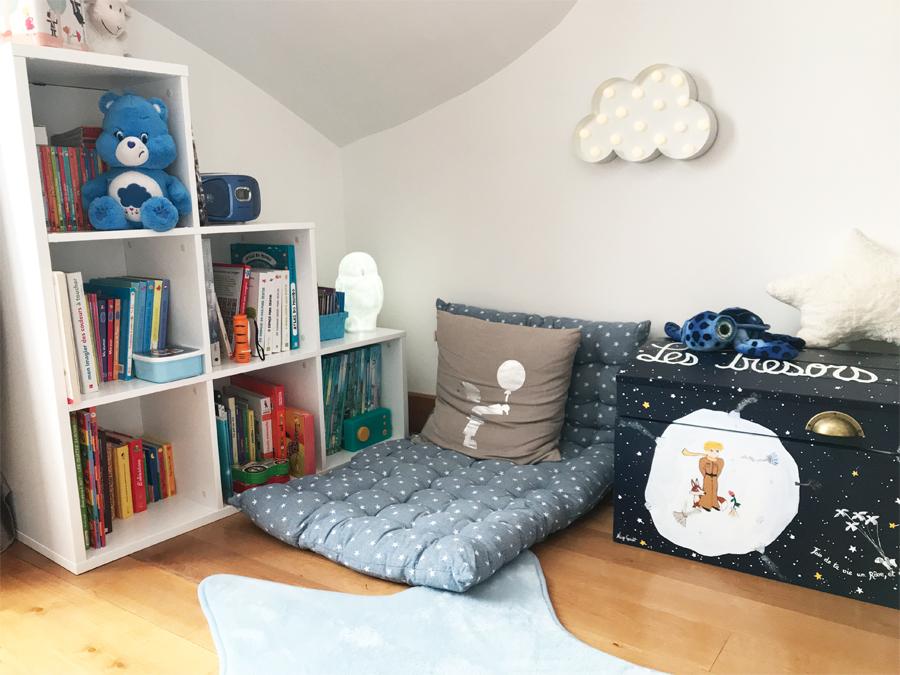 am nager un petit coin lecture pour les enfants poulette. Black Bedroom Furniture Sets. Home Design Ideas